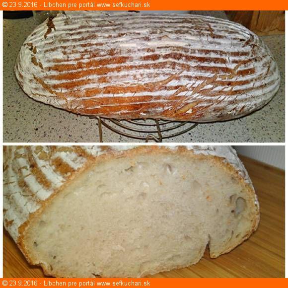 Kváskový zemiakový chlieb zo špaldovej múky