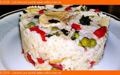 Eintopf z dusenej ryže a dubákov
