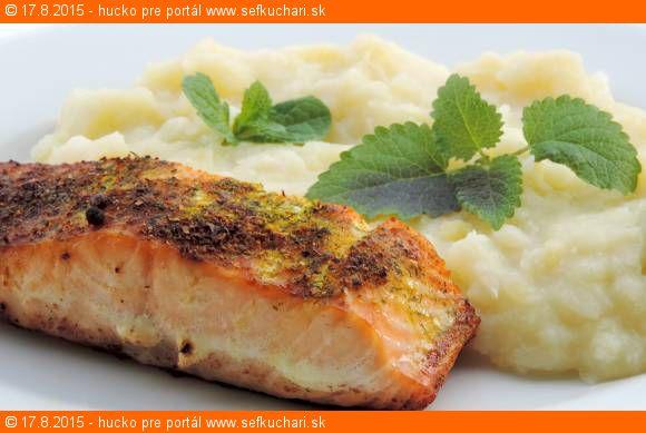Grilovaný losos s karfiolovo zemiakovým pyré