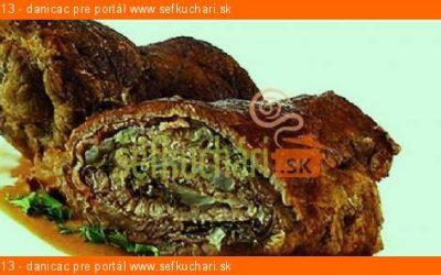 Hubová roláda z hovädzieho mäsa