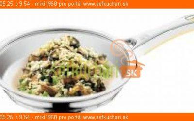 Hubové rizoto so šunkou a syrom