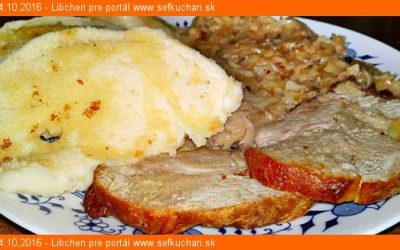 Pečené bravčové pliecko na cesnaku s hlávkovou kapustou na karameli