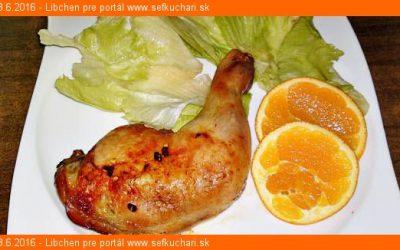 Pečené kuracie stehná marinované v pomarančovej šťave