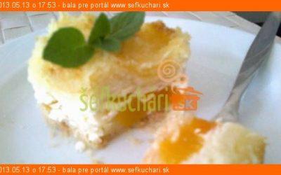 Švédsky tvarohový koláč s ovocím