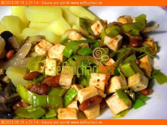 Tofu s pórom